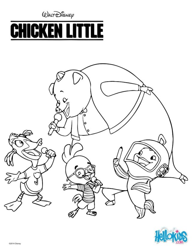 Disney chicken little coloring pages