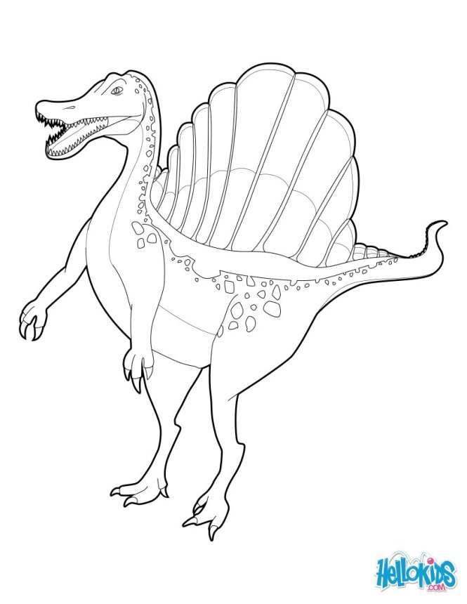 spinosaurus coloring pages okids com - Spinosaurus Coloring Pages Printable