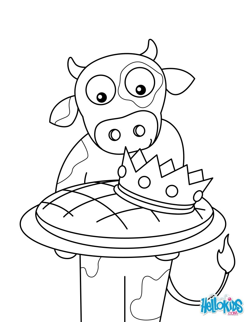 King Cake Coloring Sheet Coloring Pages