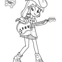 applejack coloring pages # 9