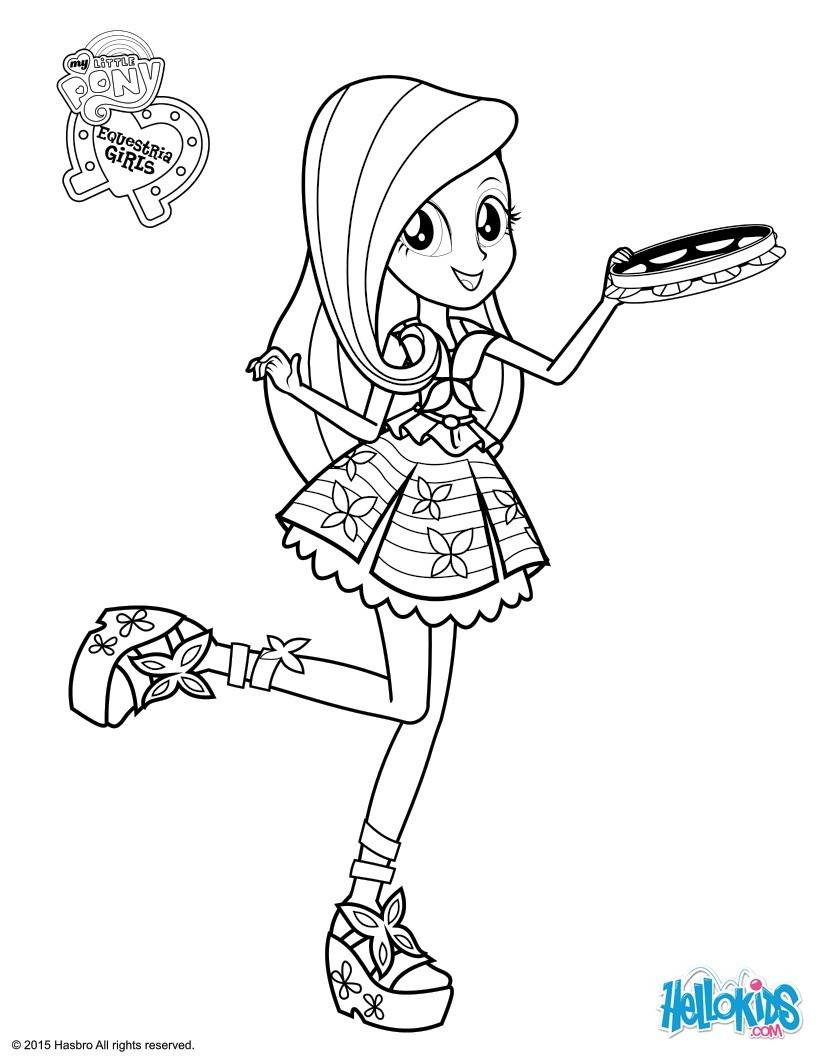 Rainbow Dash Coloring Pages Hellokids