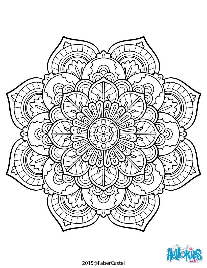 Mandala vintage coloring pages - Hellokids.com | mandala coloring pages for adults online