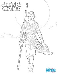 Star wars - rey coloring pages - Hellokids.com