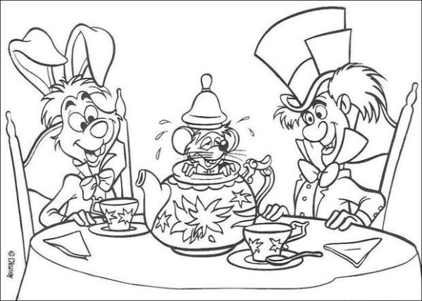 alice in wonderland coloring page # 55