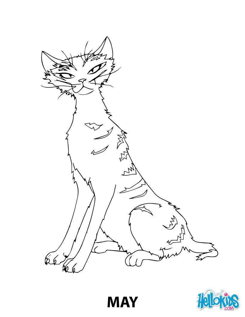 May the cat from robinson crusoe coloring pages