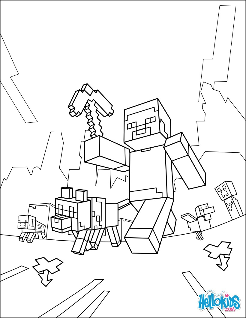 Free Minecraft Zombies Coloring Pages Auto Electrical