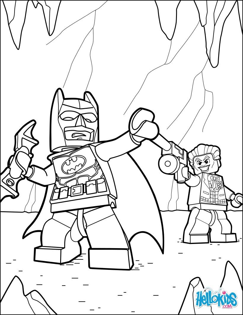 lego batman and joker coloring pages  hellokids