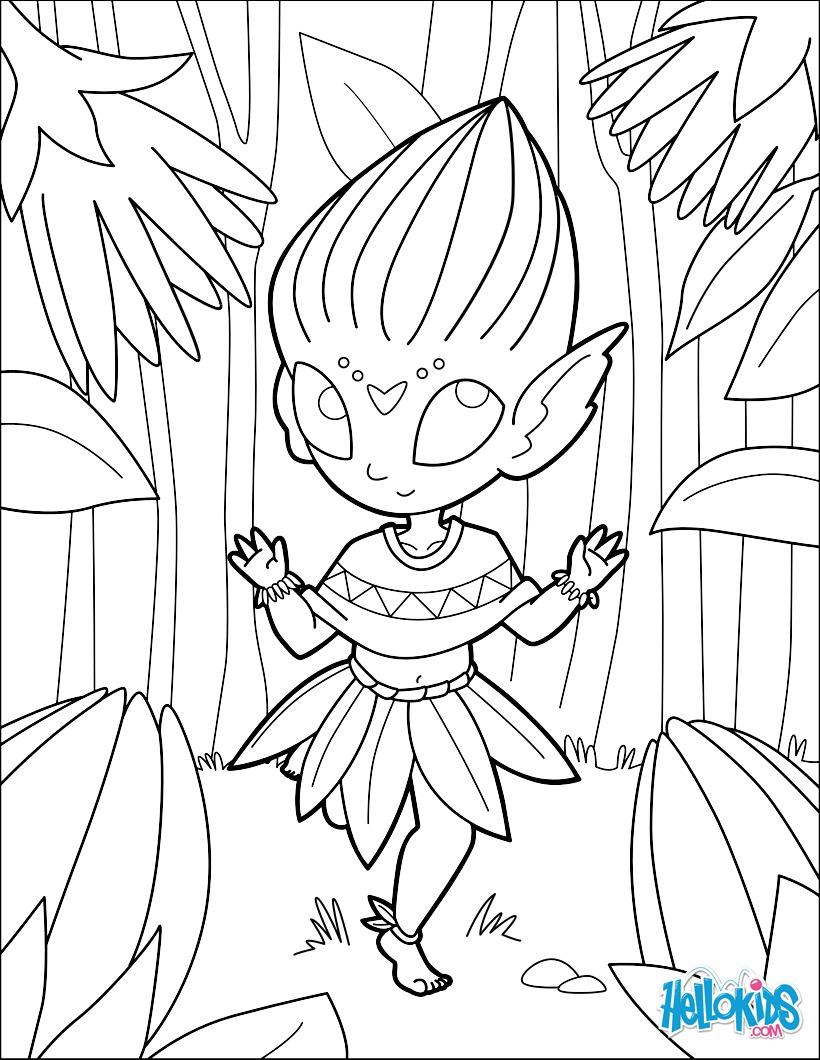 Flower Bud Preschool Coloring Pages