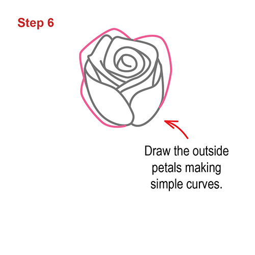 How To Draw A Rose Step By Step Easy For Beginners
