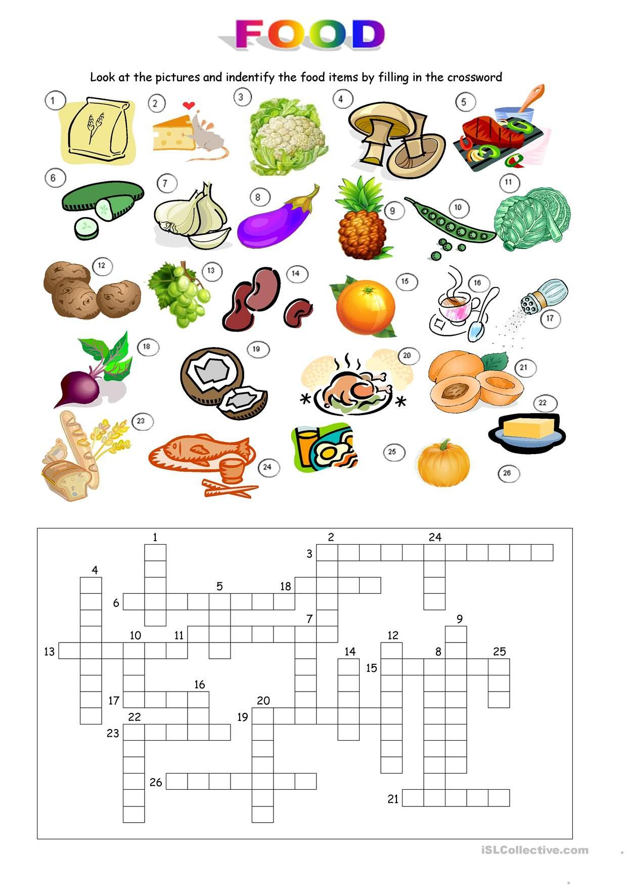 Food Crossword Stories To Read