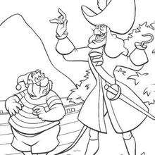 captain hook coloring pages # 4