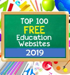 Top 100 Free Education Sites [ 977 x 1464 Pixel ]