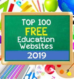 Top 100 Free Education Sites [ 977 x 1464 Pixel ]
