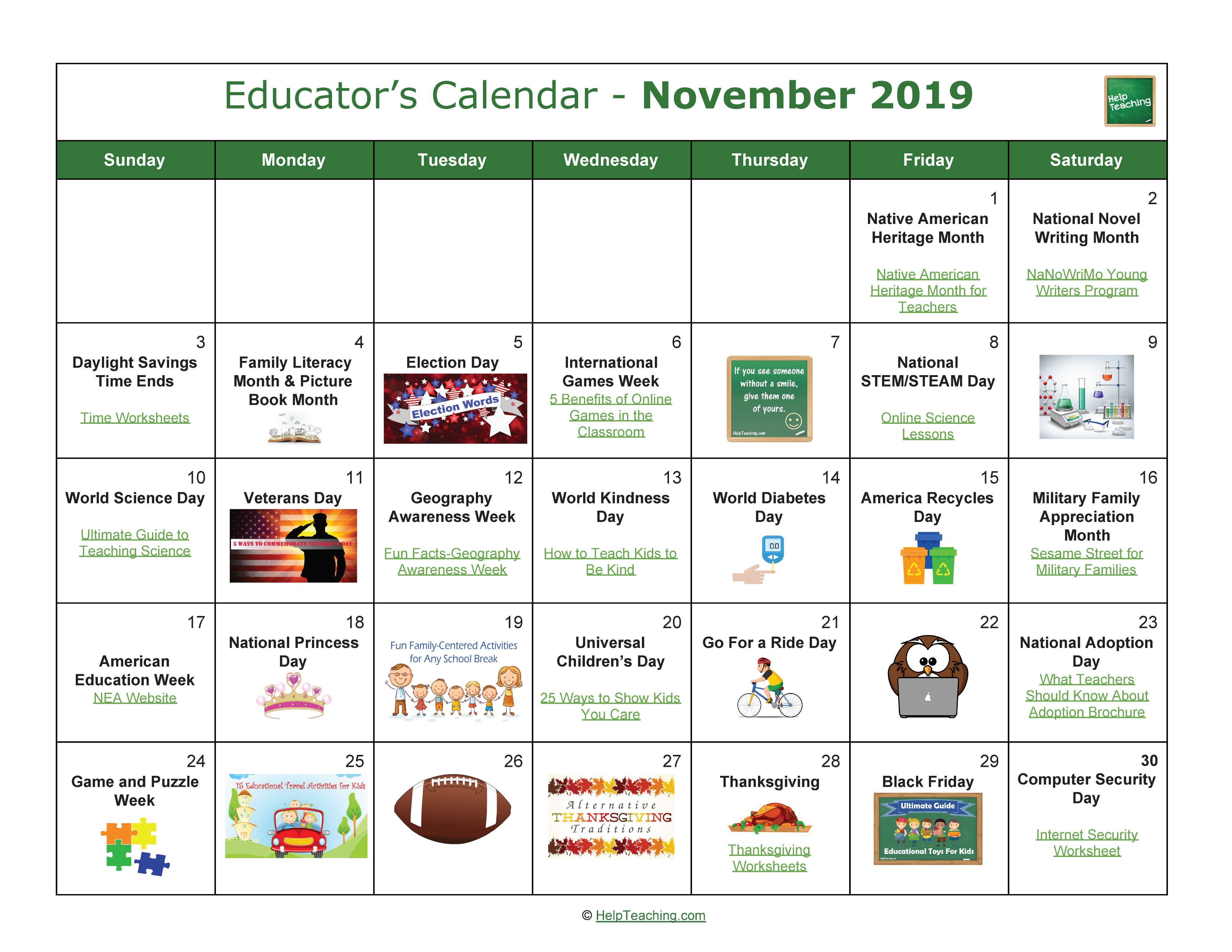 Us Educator S Calendar