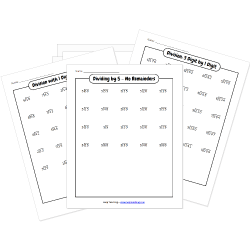 Free Printable DIVISION Worksheets
