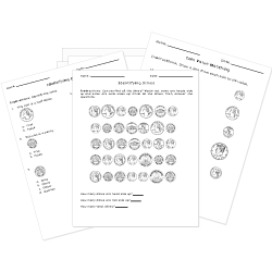 Free Printable MONEY Worksheets. Quiz Online or Print.