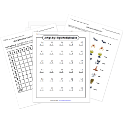 Free Printable MULTIPLICATION Worksheets.