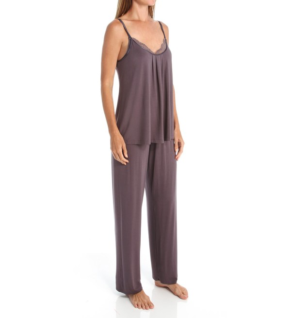 Carole Hochman Midnight Chantilly Pajama Set With Shelf