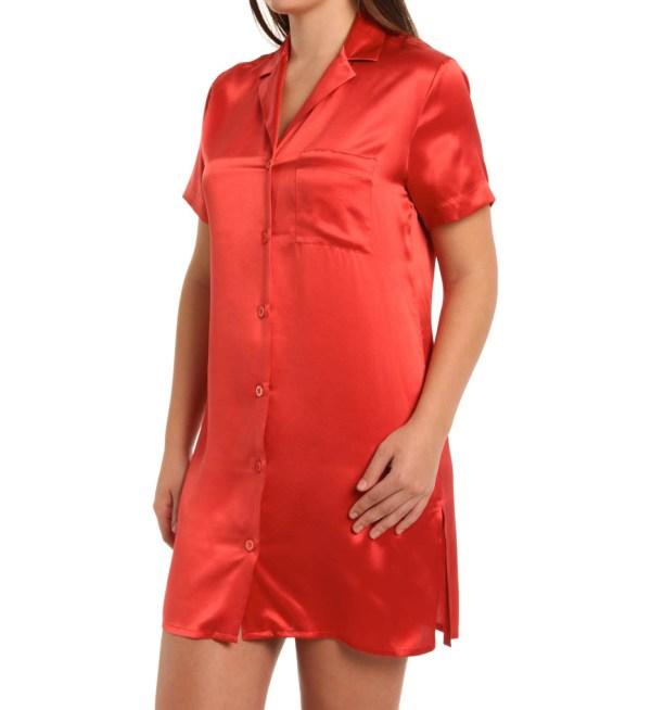 La Perla Seta Silk Button Front Night Shirt 7225