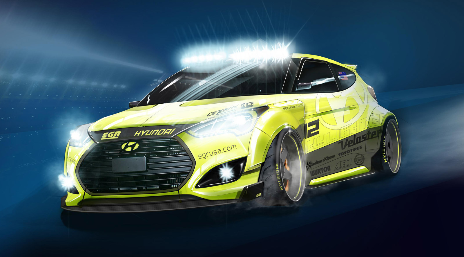 hight resolution of hyundai veloster turbo fondly name checks geopolitics with yellowcake sema edition