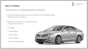 2013 Lincoln MKZ Hybrid Underscores 'Your Mileage May Vary'