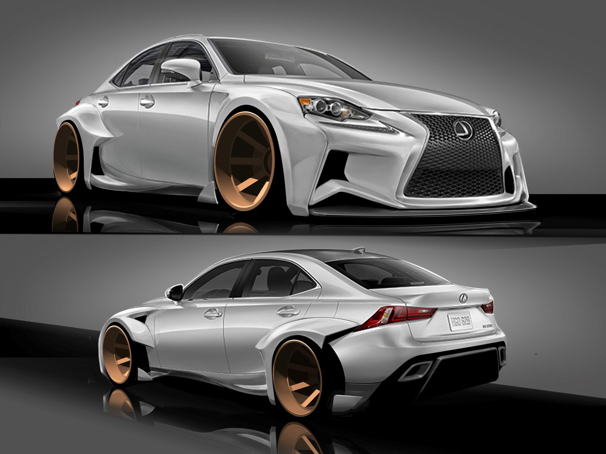 2014 Lexus IS SEMA Concept Gets DeviantART Design