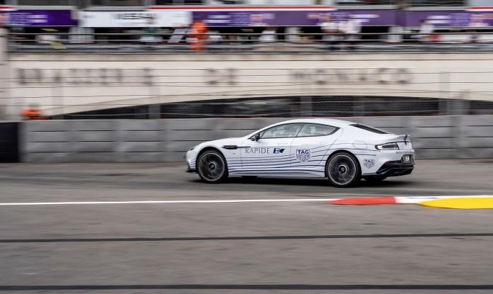 2020 Aston Martin Rapide E at the 2018/2019 Formula E Monaco ePrix
