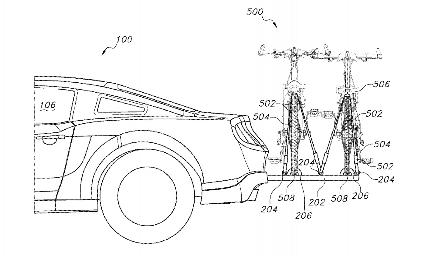 Ford Patented A Retractable Integrated Bike Rack