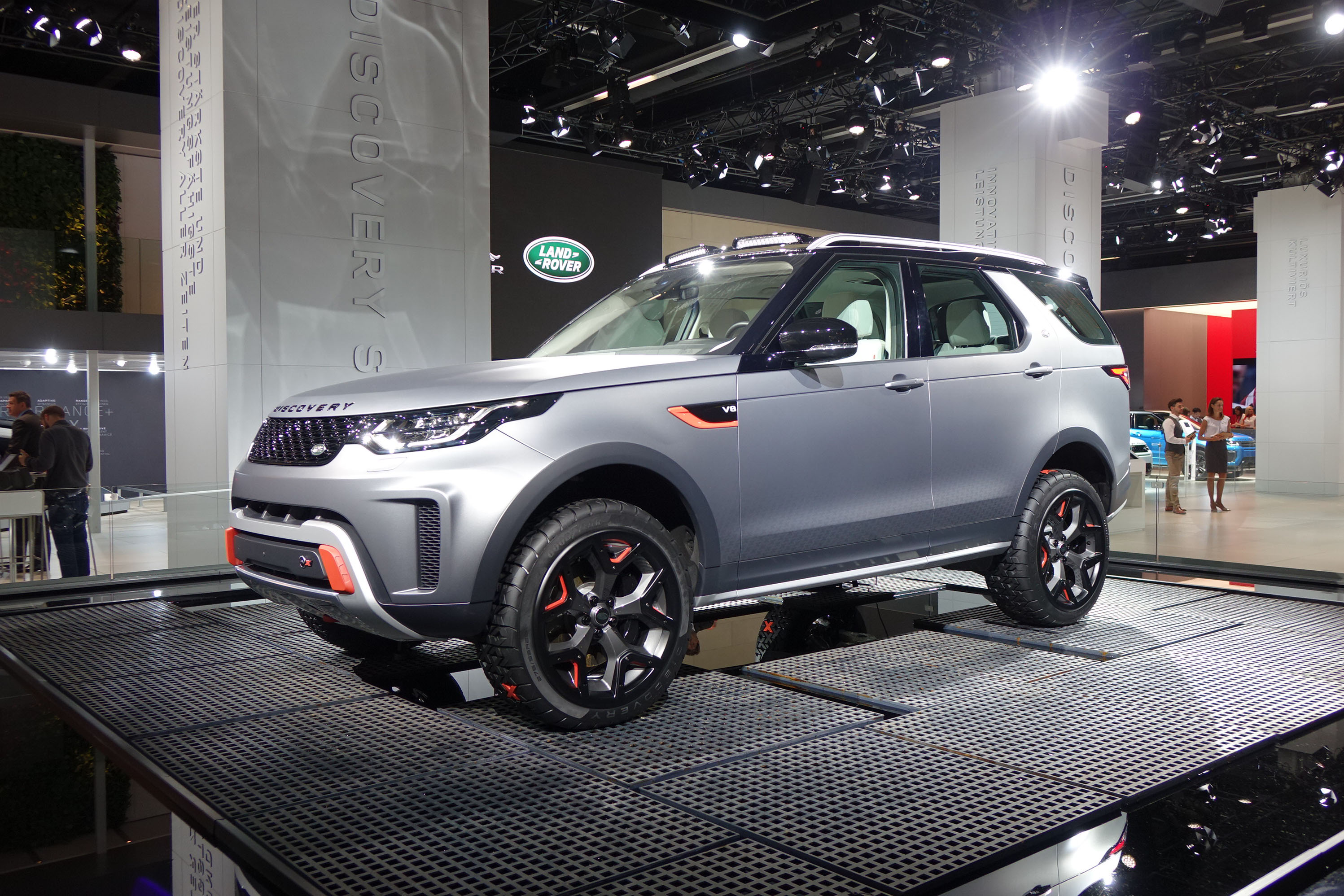 Land Rover Discovery SVX is a hardcore V 8 powered off roader