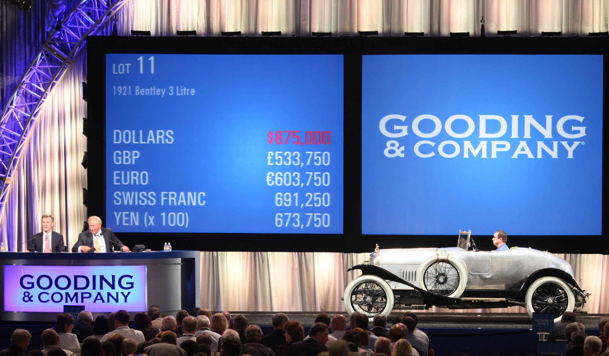 Chaise Number Bentley S First Production Car Sells For 962 500 At Auction