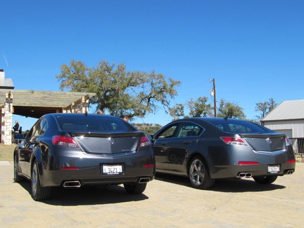 medium resolution of 2012 acura tl left alongside 2011 model right