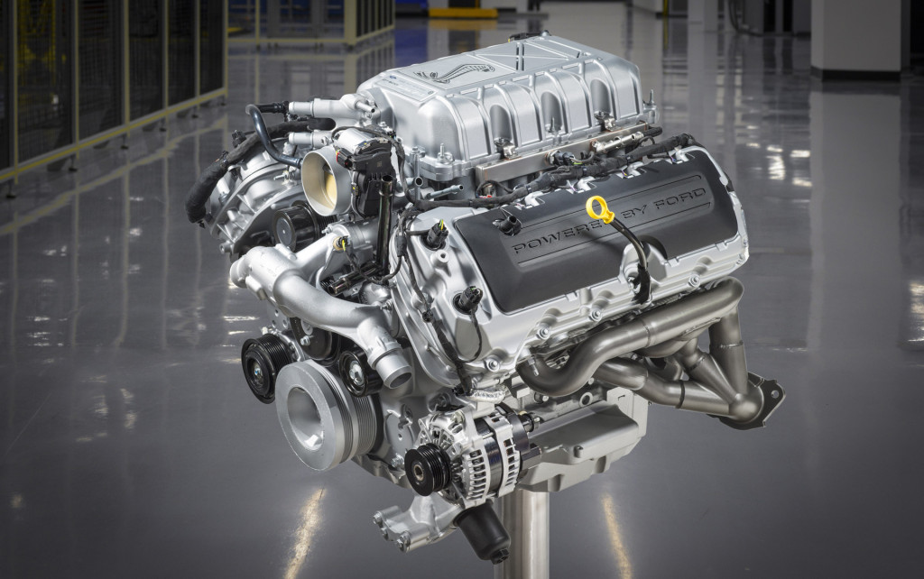 2020 Ford Mustang Shelby GT500's 5.2-liter supercharged V-8