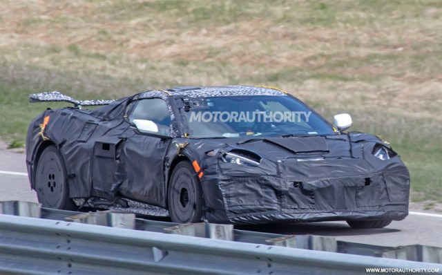 2022 Chevrolet Corvette Z06 spy shots - Photo credit:S. Baldauf/SB-Medien