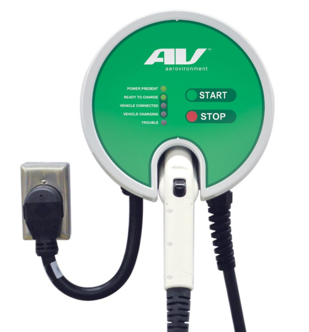 hight resolution of aerovironment ev charger electric car charging station evse