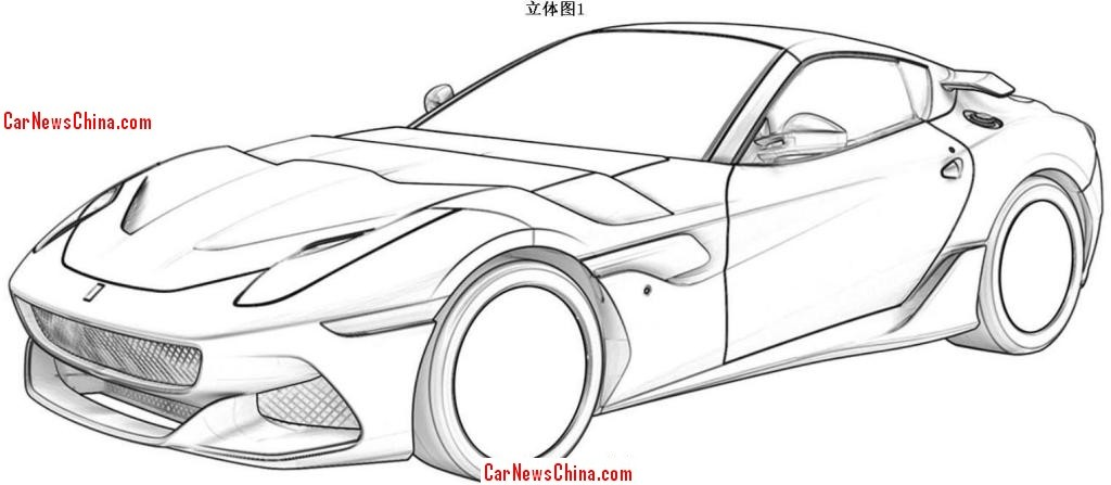 Ferrari 488 Gtb Coloring Pages