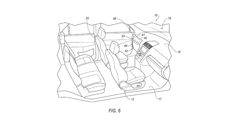 Ford patents system with removable steering wheel and