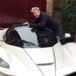 Gordon Ramsay Shows Off His Pearl White Laferrari Aperta