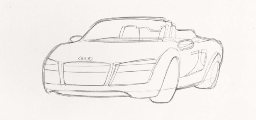 How To Draw Tony Stark's Audi R8: Video