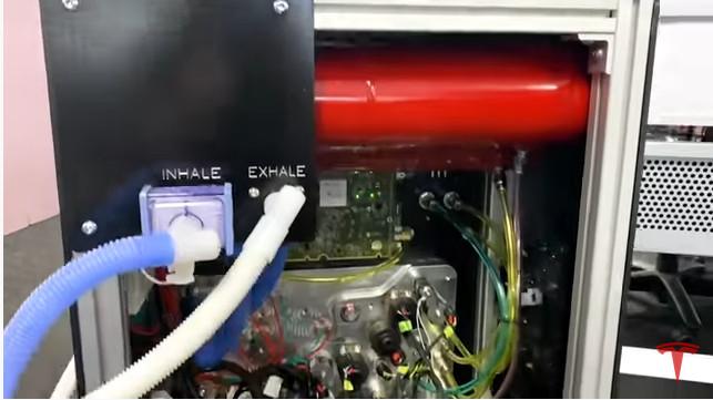 Tesla fan made from model 3 parts