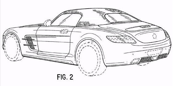 Image: 2012 Mercedes-Benz SLS AMG Roadster patent drawings