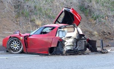 2004 Ferrari Enzo wrecked by Bo Stefan Eriksson