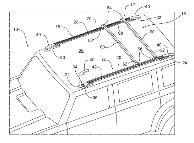 Ford Bronco patents for roof and grille