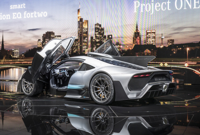 BMW I Vision Dynamics Mercedes AMG Project One Land