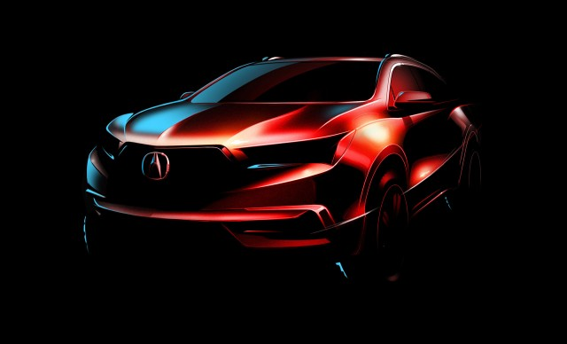 Teaser for 2017 Acura MDX debuting at 2016 New York Auto Show