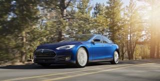 2015 Tesla Model S 70D in new Ocean Blue color
