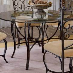 Dining Table With Metal Chairs Boyd Dental Hillsdale Pompei Collection Caster Chair D4442 810 806 Slate Top
