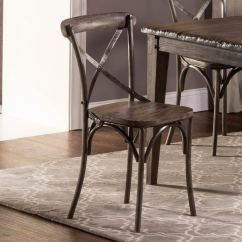X Back Chairs Bedroom Chair Clearance Hillsdale Lorient Dining Washed Charcoal Gray Aged Steel Metal 5676 802 Hillsdalefurnituremart Com