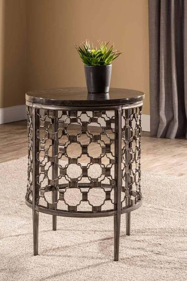 Hillsdale Brescello End Table - Charcoal Blue Stone
