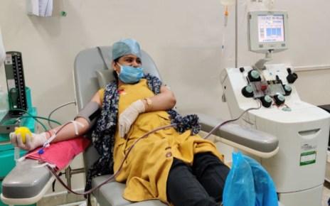 COVID-19 से लड़कर स्वस्थ हुई जबलपुर की सुनीता, अब मदद के लिए डोनेट किया प्लाज्मा