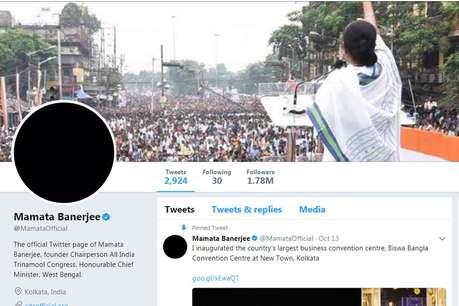 नोटबंदी के विरोध में ममता ने ट्विटर अकाउंट की तस्वीर काली की
